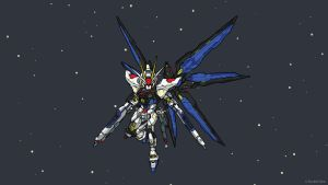 Strike Freedom - Chibi - Vector Art by Silver-Fate