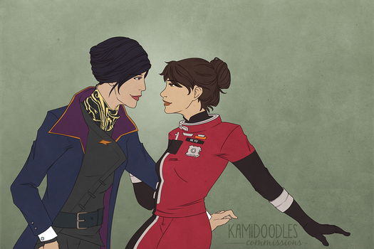 Commish - Emily x FemMorgan by kamidoodles