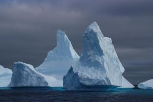Mighty icebergs by CAStock
