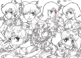 Sailormoon Lineart by Nekkohime