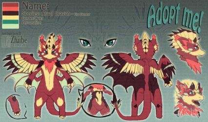 Arual Dragon Adoptable by Zhiibe