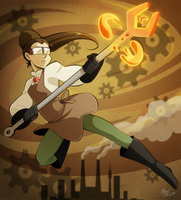 [Commission] Magical Metalworker by BlueXCanary