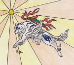 Amaterasu's blue form by AlyssasART