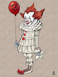 Pennywise from IT by MentalPablum