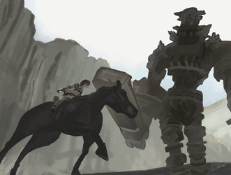 Shadow of the Colossus by ezekdesigns
