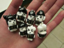 BTS Hip Hop Monster Charms by XXSaturnNinjaSGXX