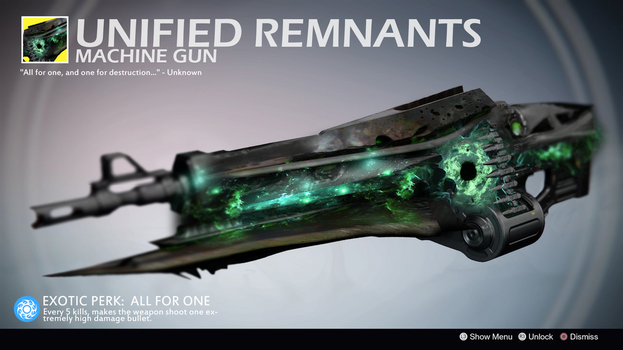 Unified Remnants (Exotic Machine Gun Concept) by Rageblade66