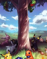 Pokemon, just hanging out! by Clemontiscute123