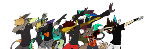 DAB SQUAD COLLAB by Nanarui
