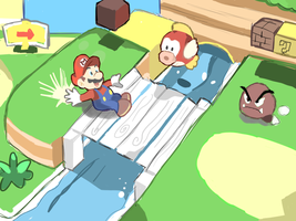SUPER MARIO 3D LAND: WORLD 1-1 Doodle by AlSanya