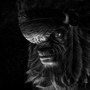 Thunderhooves the Wide, chief of the buffalo herd by friendshipocalypse