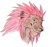 Axel lion colored by Kaia-Anevay