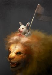 Bunny and Lion by WaitingForEmma