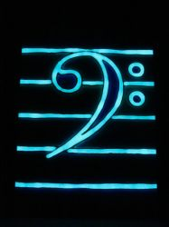 Bass clef 2 luminescent by Prisoner2203