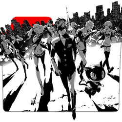 Persona 5 the Animation 1 Folder Icon by rkasai14