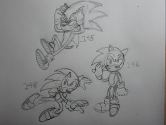 Sonic Sketches: 4 by SonicWindAttack