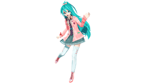 MMD - DT X PDF Ribbon Girl Miku +DL by luiz7429