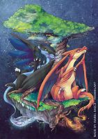 Charizards by tikopets