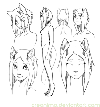 anthro sketches by creanima