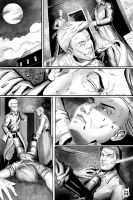 Comic page sample_BW by dotlineshape