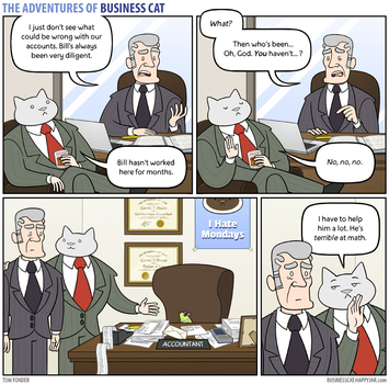 The Adventures of Business Cat - Accounts by tomfonder
