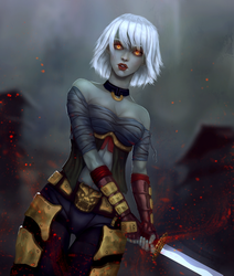 Undead kunoichi by Groovern