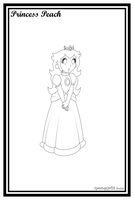 Peach -Lineart- by GamingGirl73