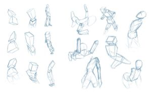 Pose Studies 4 - Seeing poses in perspective by BBstudies