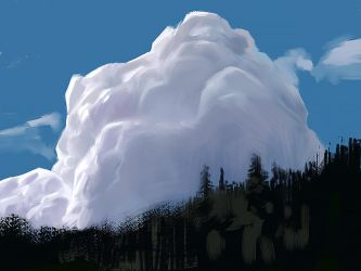 Clouds sketch by MiroJohannes