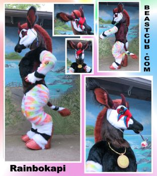Rainbow Okapi - Rainbokapi by LilleahWest