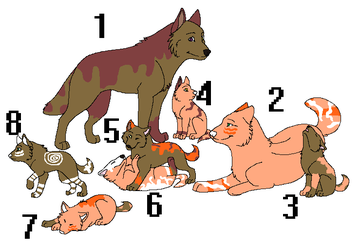 Wolf Family Adoptable CLOSED by sungirl128