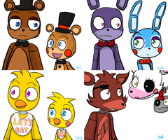 FNAF-Trying my own style by silverxcristal