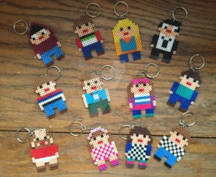 Be More Chill Keychains by messy-feathers