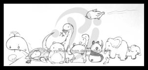 Chibi Animals by Curepi