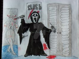 Ghostface surprise by Treforthomas