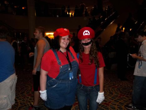 Female Mario Duo by GoddessChelle