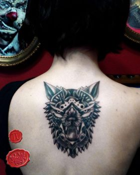 Wolf tattoo by loop1974