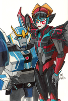 RiD Strongarm and Windblade by SilverXenomorph
