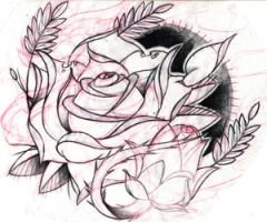 a rose by Brandotattoo