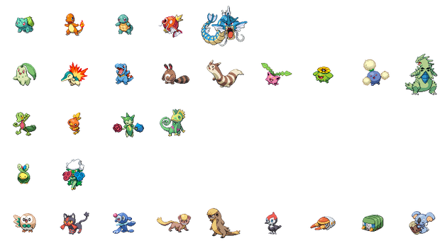 Some Sprites by Speedialga