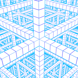 Perspective Drawing - 3D Graph Paper - 19 Pages by mrcentipede