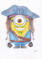 Captain Jack Sparrow Minion by Pepples93