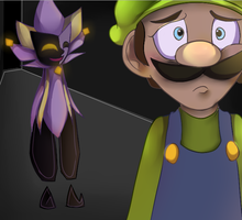 Luigi is scared by mariogamesandenemies