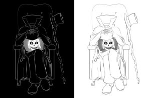 Hatbox Ghost, My Style BW by Obi-quiet