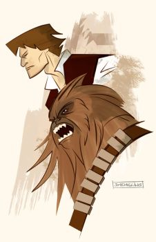 Han Solo and Chewbacca by CartoonCaveman