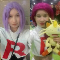 James and Jessie from Pokemon at MCM London by Londonexpofan