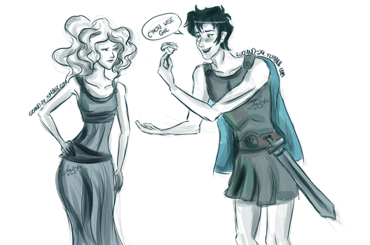 Percabeth as Meg and Hercules 26-10-13 by Luciand29