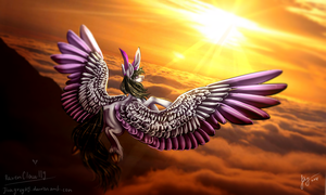 {AT + SpeedPaint} Sunset in the sky by JinaGrey119
