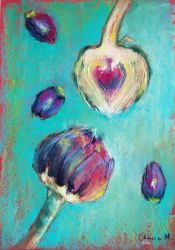 Artichokes on the Teal Table by favouriteflavor