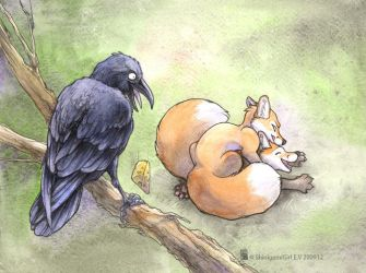 The Foxes and the Raven by shinigamigirl